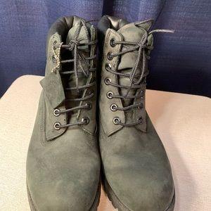 Timberland men's black work boots 8M